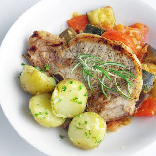 Pork Chops and Traditional Ratatouille.