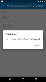 Thermostat DashClock Extension- screenshot thumbnail