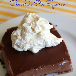 Clean Eating Chocolate Pie Squares