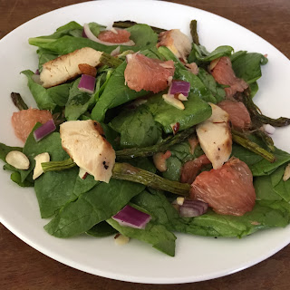 Grapefruit, Chicken, and Spinach Salad with Grapefruit Vinaigrette