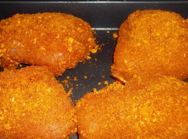 Coat chicken with crumb mixture. Place in a greased 13-in. x 9-in. baking dish....