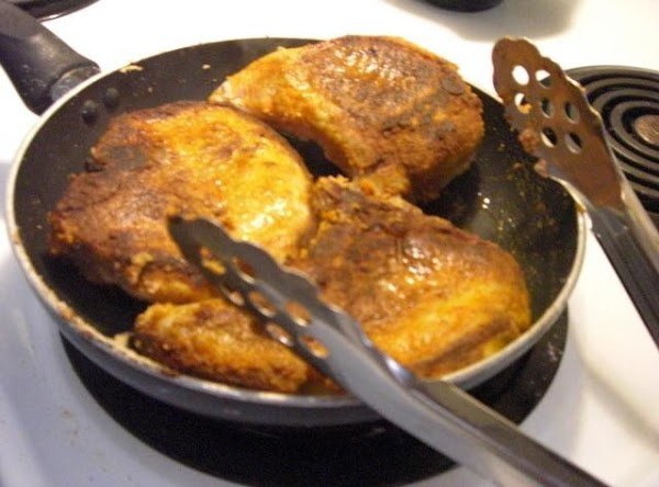 In a large skillet, brown chops in butter until browned, trasnfer to a 9x13...