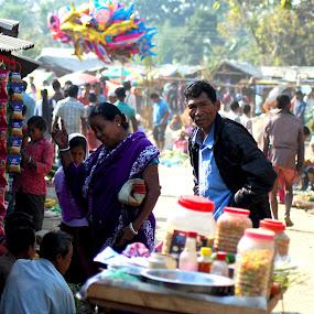 by S S Bhattacharjee - City,  Street & Park  Street Scenes