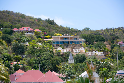 gustavia-houses.jpg - Multimillion-dollar mansions tucked into the hillsides of Gustavia.