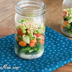 ... Jar Zucchini Pasta Salad with Avocado Spinach Dressing Recipe | Yummly