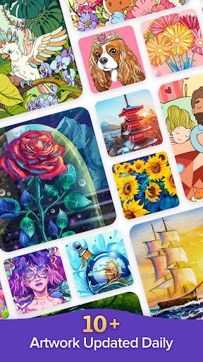 Coloren - Color by Number & Puzzle Games apkpoly screenshots 4