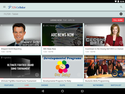 U.S. Cellular Mobile TV- screenshot thumbnail