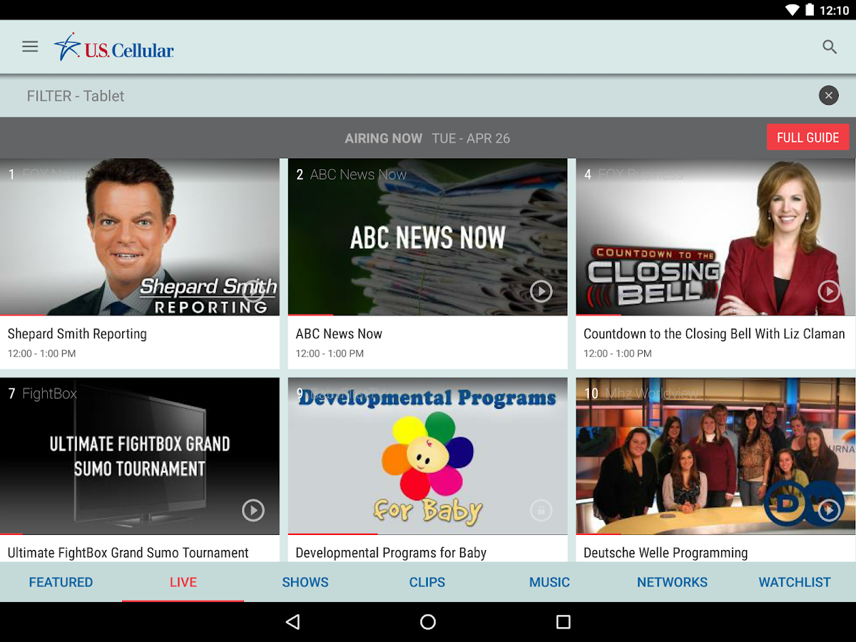 U.S. Cellular Mobile TV- screenshot