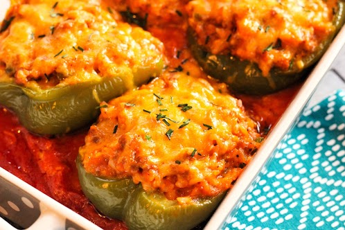Italian Sausage and Rice Stuffed Peppers
