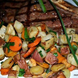Sweet Roasted Carrots and Red Potatoes With Rosemary