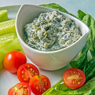 Low Carb Borani Persian Yogurt Spinach Dip.