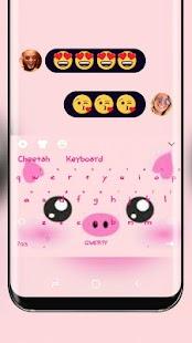 Cute Piggy Keyboard Pink Kawaii - náhled