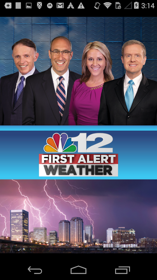 NBC12 First Warning Weather- screenshot