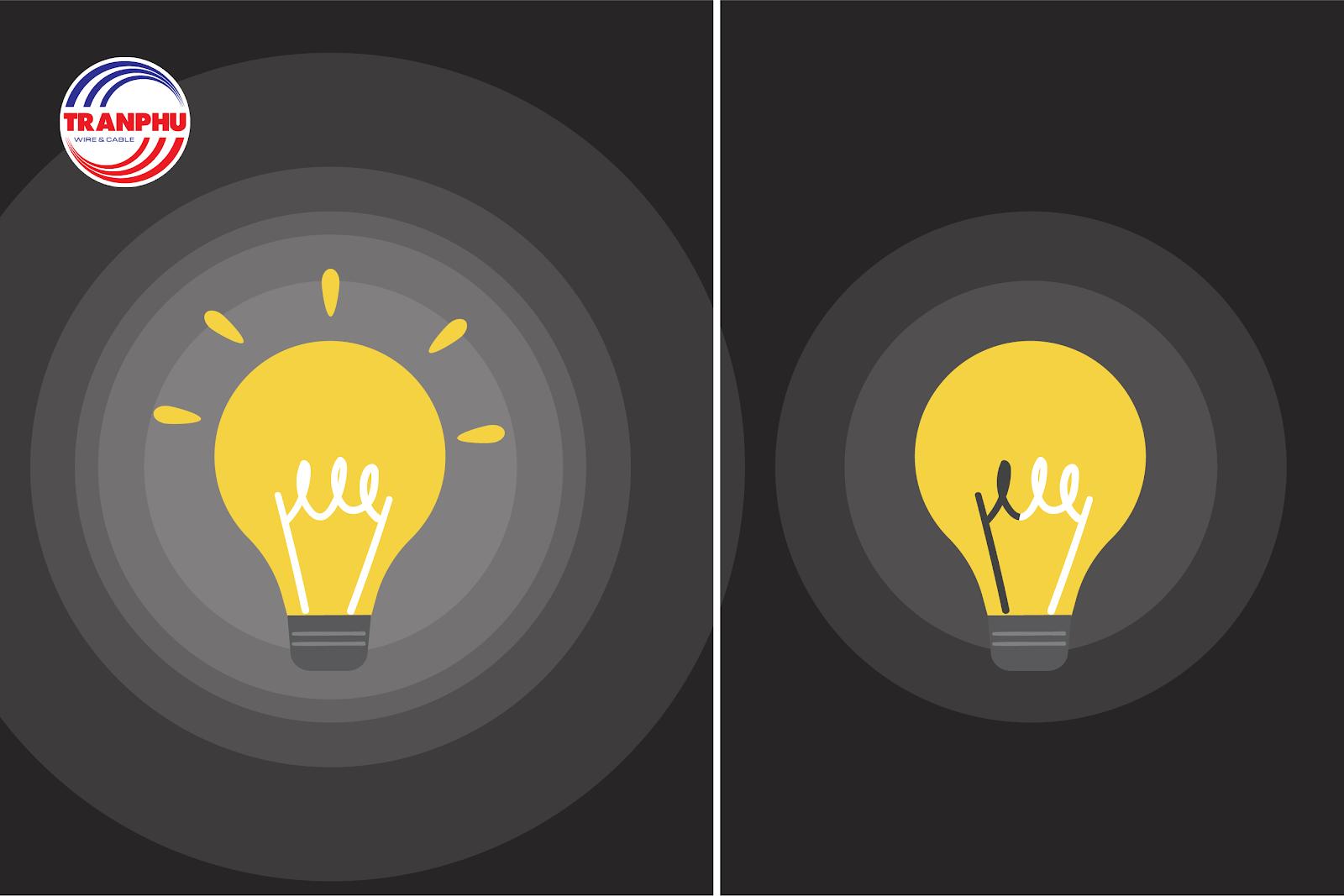 Bóng đèn chiếu sáng chập chờn là dấu hiệu của nguồn điện yếu