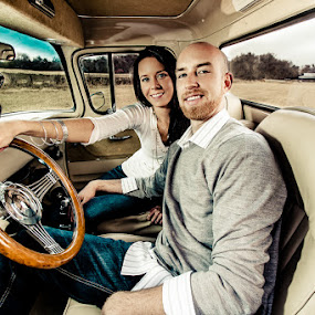 Cat Daddy by Darby Byrd - People Couples ( classic cars, wide angle, couple )