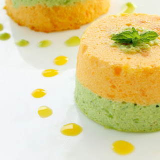 Souffle-like Pea & Carrot Flans