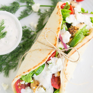 Greek Chicken Gyros with Tzatziki Sauce Recipe