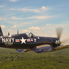 Korean War Hero by Ron Malec - Transportation Airplanes ( warbird, corsair, f4u )