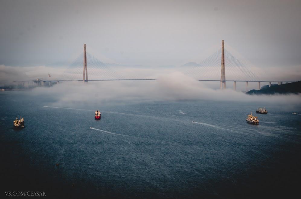 Туман окутывает город