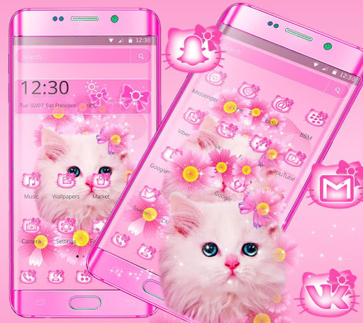 Download Cute Pink Kitty Cat Theme On Pc Mac With Appkiwi Apk