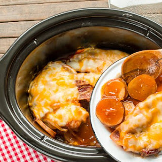 Slow Cooker Sweet Baby Ray'S Barbecue Pork Chops and Potatoes Recipe