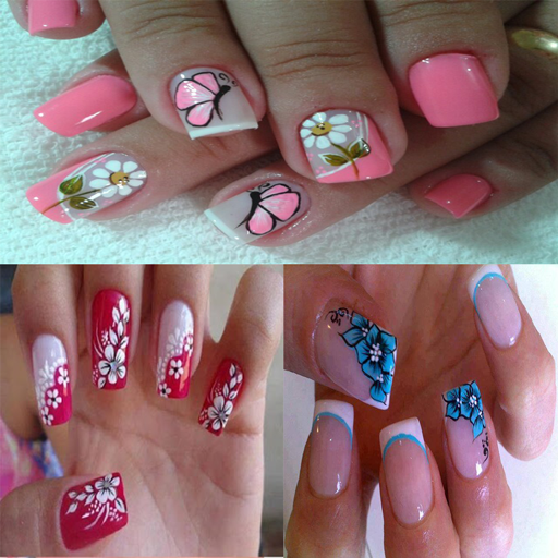 Uñas Decoradas Con Flores Diseños Uñas Con Flores Apps On