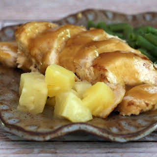 Baked Pineapple Chicken Breasts.