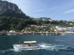 Photo: Návštěva ostrova Capri v Tyrhénském moři, které je součástí Středozemního moře, a města Sorrenta známého výrobou ovocného likéru Limoncello (pátek 12. červen 2015).
