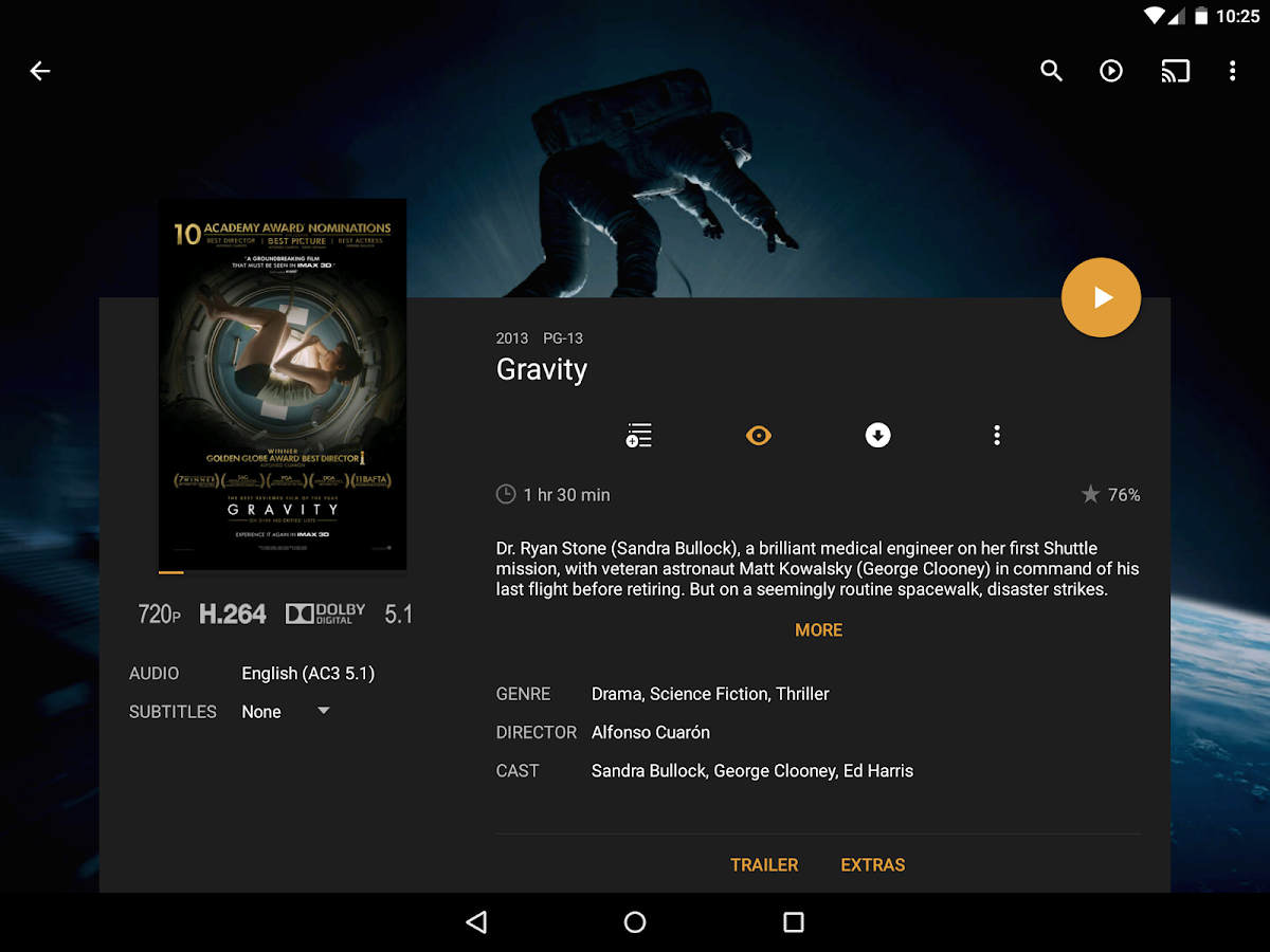 Plex for Android- screenshot