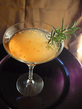 Photo: Agave y Sandia:  Tequila, Combier, watermelon, lime juice, rosemary, fresh peppers.