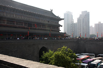 Photo: Day 188 -  The Old and the New -  East Gate on Old City Wall in Xi'an