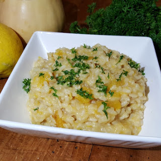 Pressure Cooker Roasted Butternut Squash Risotto with Gremolata