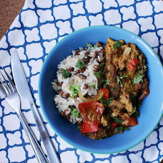 Jamaican Fish Curry With Rice & Peas