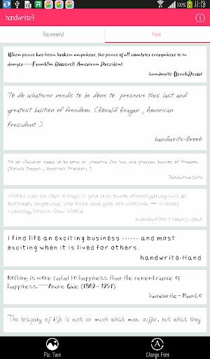 Free Font - Handwrite