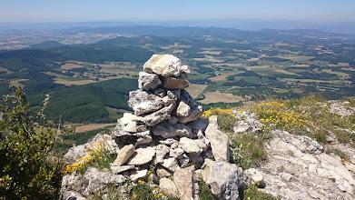 Photo: Bovenop Roche Colombe was dit het uitzicht