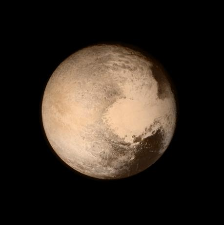 Pluto nearly fills the frame in this image from the Long Range Reconnaissance Imager (LORRI) aboard NASA's New Horizons spacecraft, taken on July 13, 2015. Picture via REUTERS
