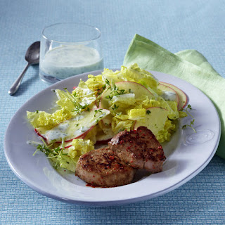 Pepper Pork Medallions with Cabbage