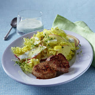 Pepper Pork Medallions with Cabbage.