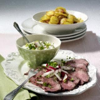 Roastbeef mit Bratkartoffeln und Remoulade