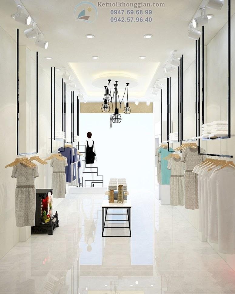 thiết kế cửa hàng thời trang công sở nữ chất lượng cao