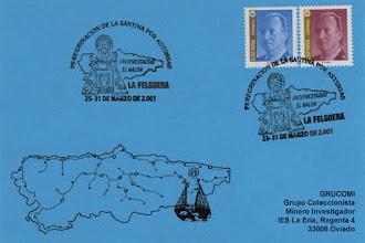 Photo: Matasellos del 2001 de la visita de la Santina a La Felguera