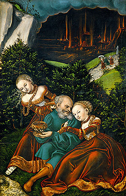 Photo: Lot and His Daughters, 1528