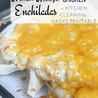 Cream Cheese Chicken Enchiladas.