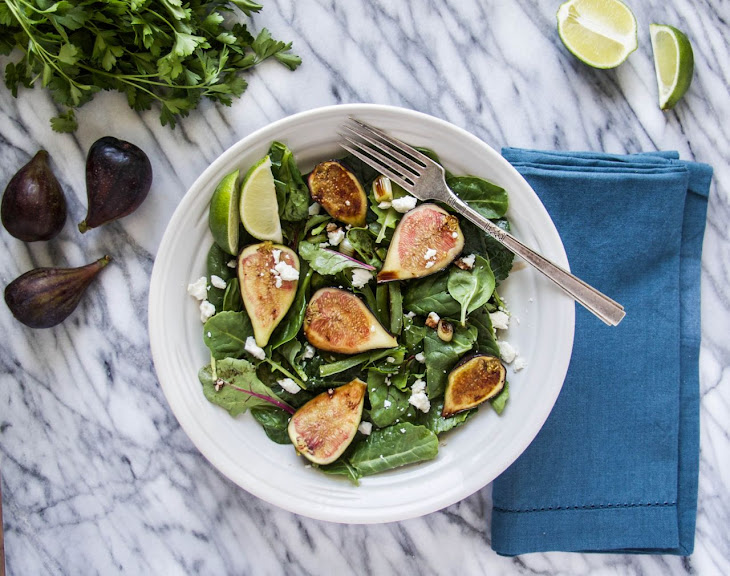 Fresh Fig and Charred JalapeñO Salad with a Balsamic Reduction Recipe