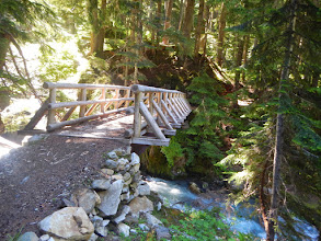 Photo: One of several well-constructed bridges on the PCT
