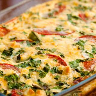 Zucchini Tomato Breakfast Bake