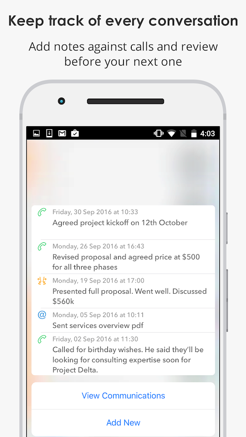 Covve: Ultimate address book- screenshot