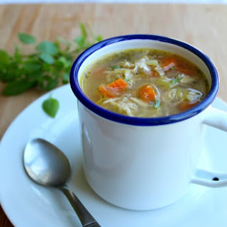 Healthy Homemade Celery Carrot Chicken Soup.