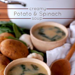 Creamy Potato & Spinach Soup.