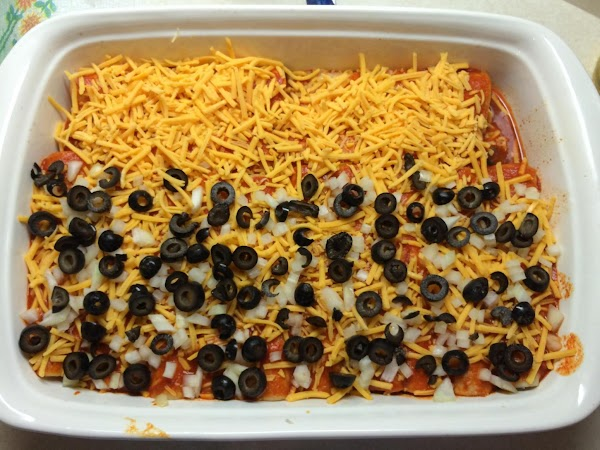Add your remaining sauce to the top of your enchiladas...or to your liking. However...